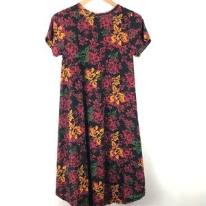 LuLaRoe Carly Fall Print Swing Dress XS